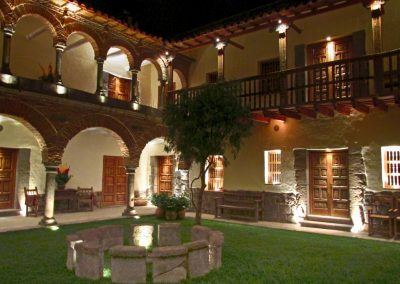 La Casona at night