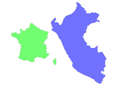 Size of Peru compared to France