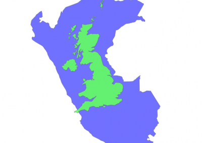 Size of Peru compared to United Kingdom