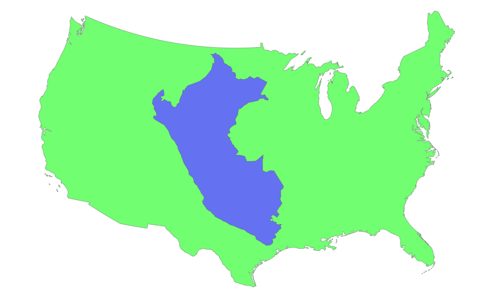 How Big is Peru and How Does it Compare With Other Countries