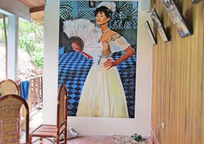 Portrait of Claudia Cardinale at Casa Fitzcarraldo