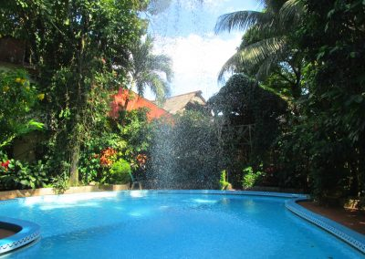 A refreshing hotel pool in Iquitos
