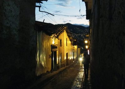 San Blas, Cusco at night