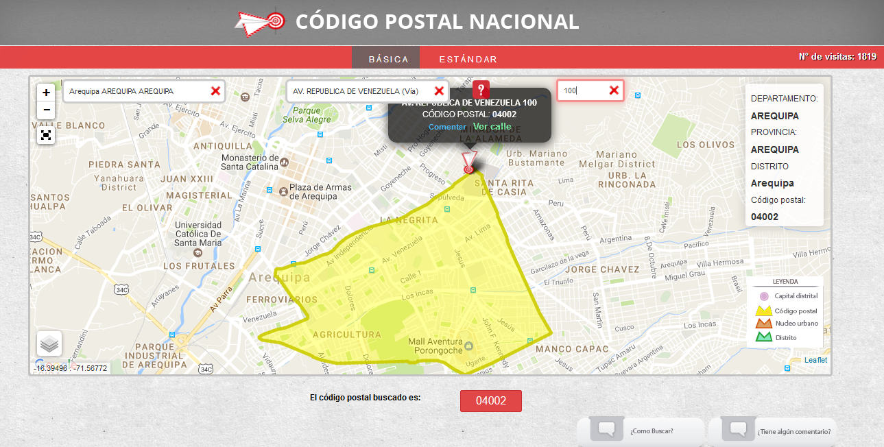 Postal Codes In Peru Find Zip Codes For The Entire Country New