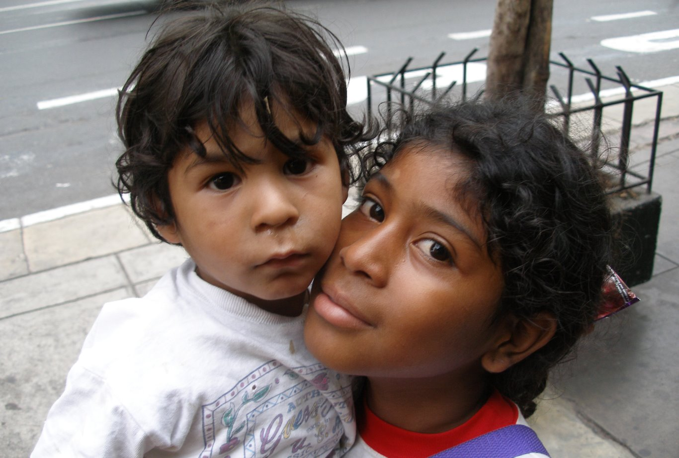Children In Lima Peru