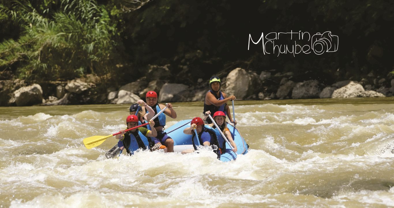 Whitewater rafting on the Rio Utcubamba, Chachapoyas
