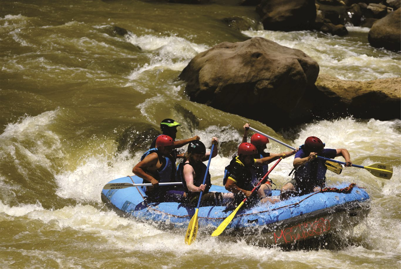 River rafting in Chachapoyas