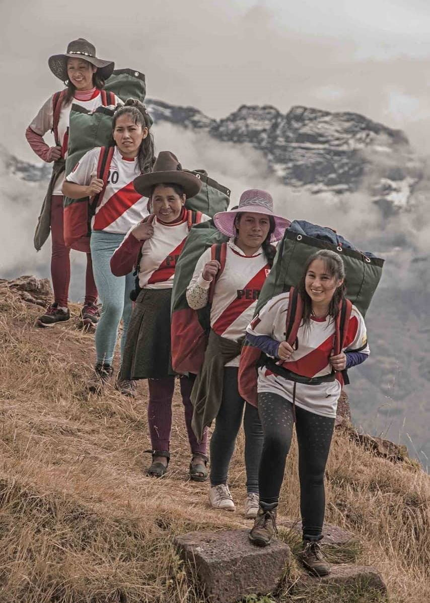 Female Inca Trail porters at Evolution Treks