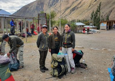 Female porters on the Inca Trail