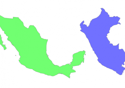 Size of Peru compared to Mexico