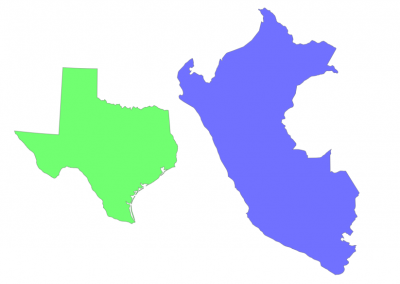 Size of Peru compared to Texas