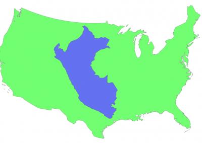 Size of Peru compared to USA