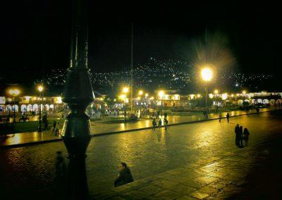 Plaza de Armas of Cusco at night