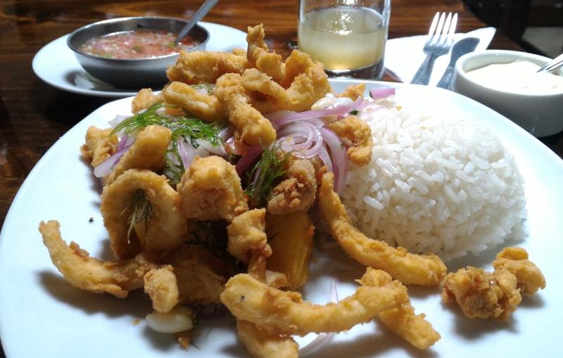 Peruvian menu main course