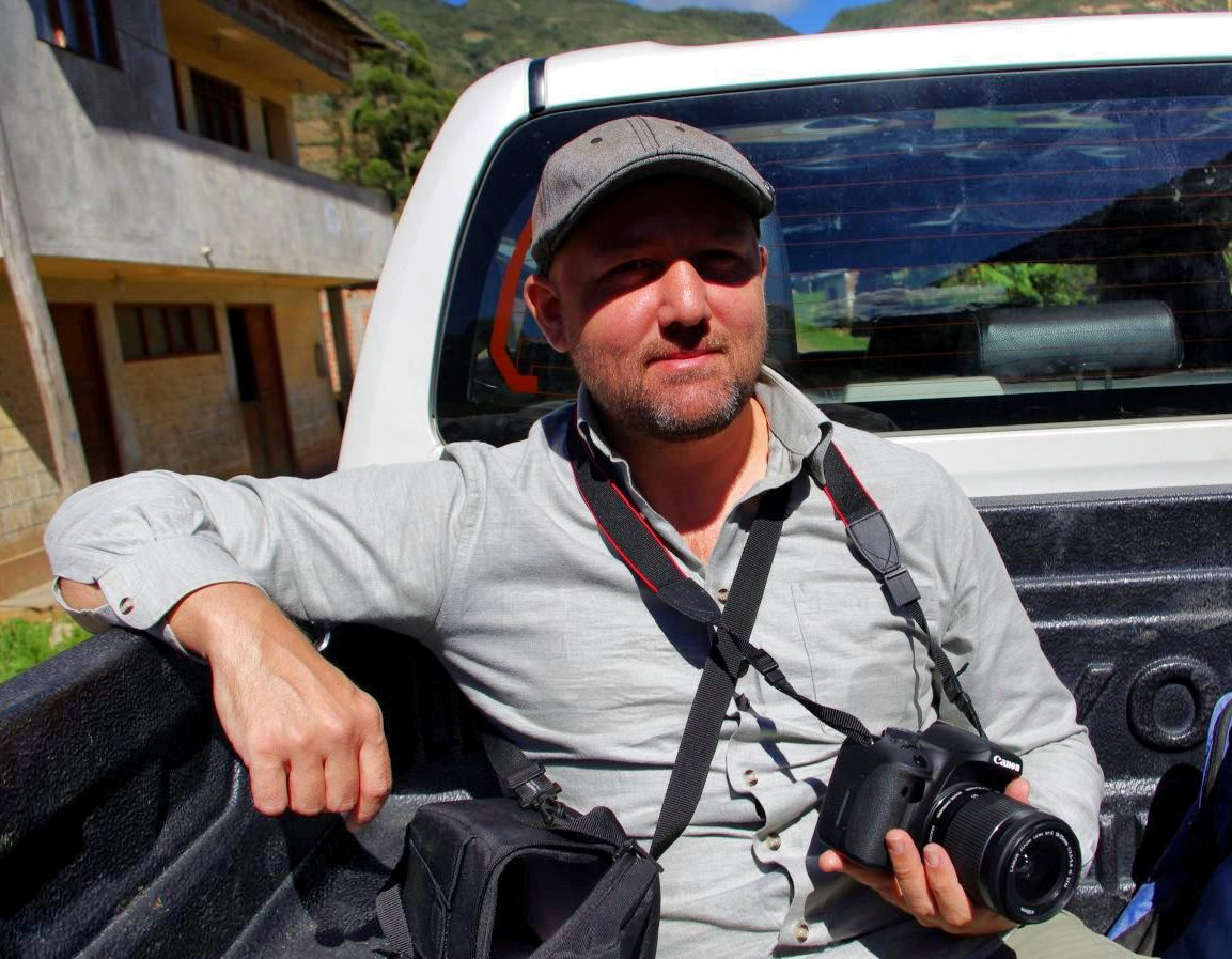 Travel writer Tony Dunnell in Peru