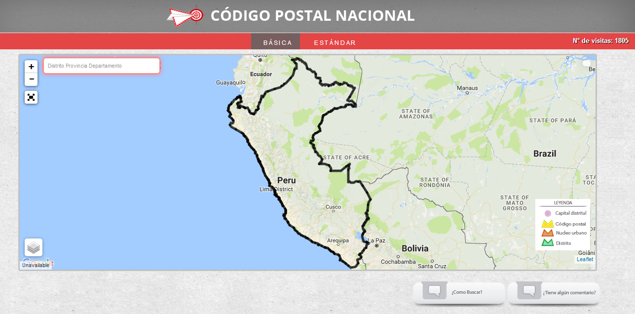 Finding postal codes in Peru