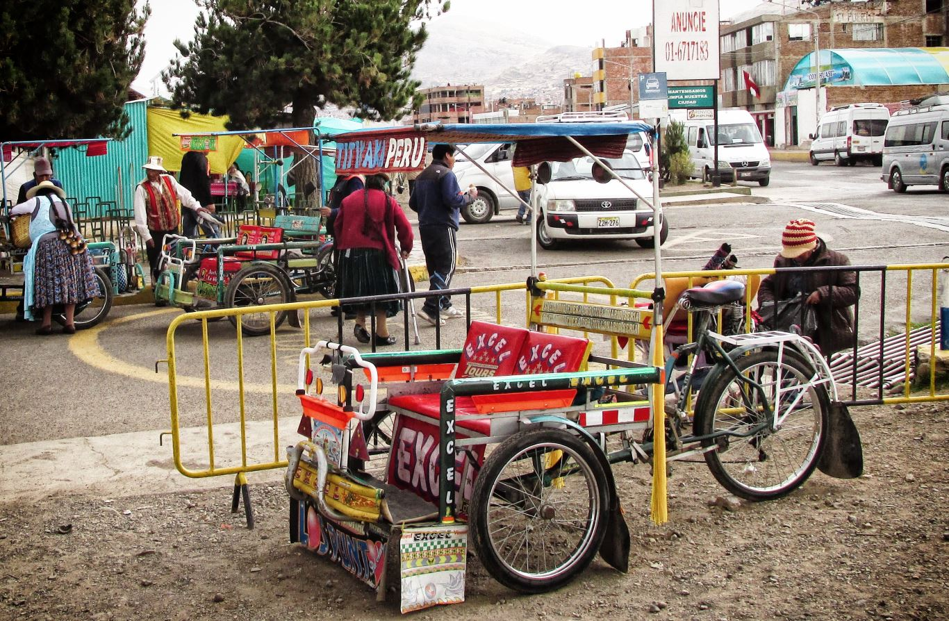 A tricycle used as public transport in Peru