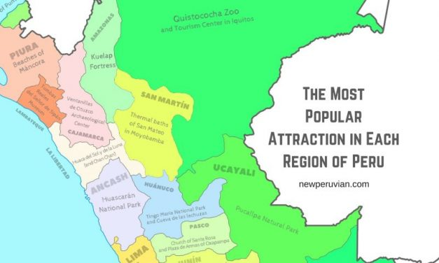 The Most Popular Attraction in Each Region of Peru: A Map Infographic
