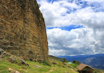 The massive walls of Kuelap near Chachapoyas