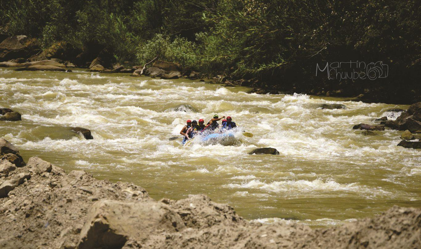 River rafting in Chachapoyas, Peru