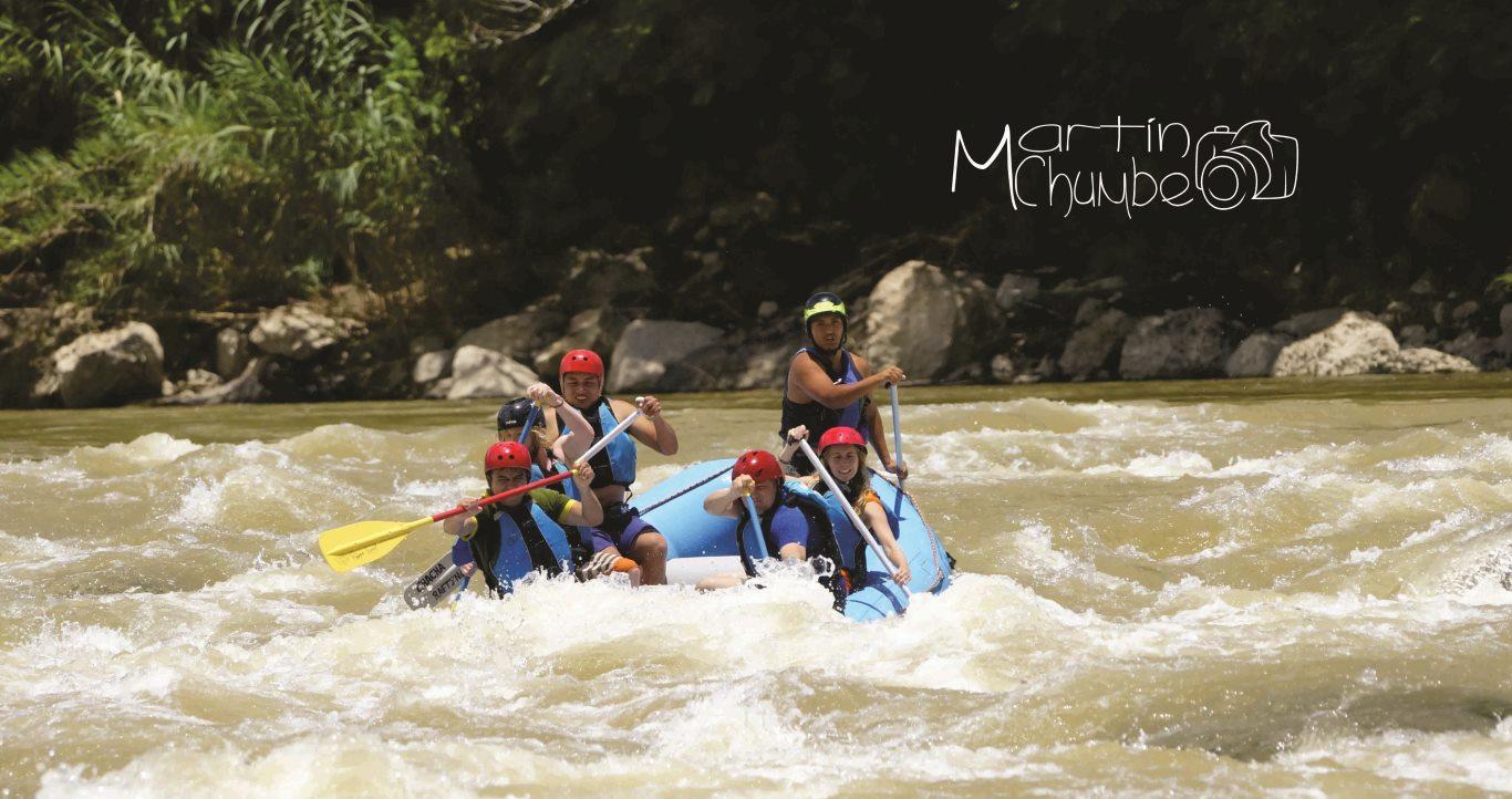 Whitewater rafting on the Rio Utcubamba, Chachapoyas