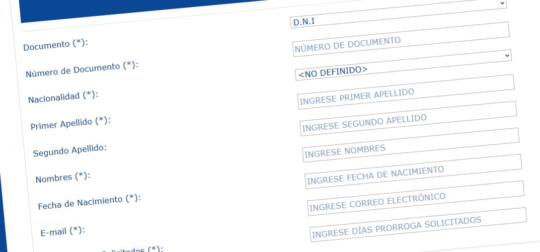 Tourist visa extension in Peru online