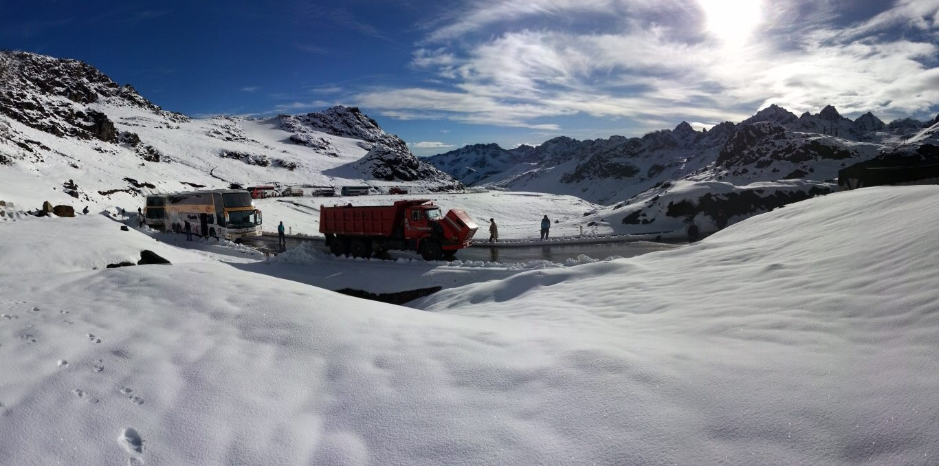 Climate change in Peru: Heavy snow