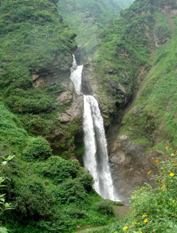Antankallo Waterfall in Matucana, Huarochiri